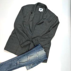 Old Navy Classic Heather Gray Blazer cotton blend